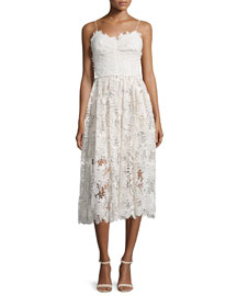 Indonesia Guipure Lace Cami Dress, White