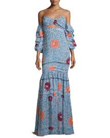 Dama de las Camelias Gown, Light Blue