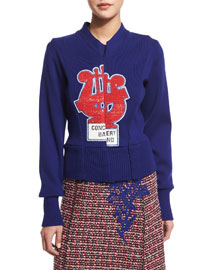 Concert Band Long-Sleeve Knit Sweater, Blue