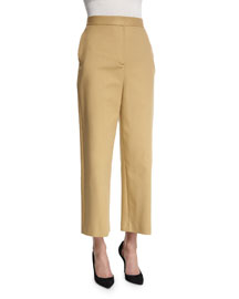 Resme Wide-Leg Cropped Pants, Caramel
