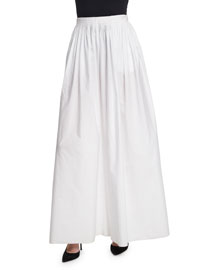 Vopa Pleated Wide-Leg Cotton/Linen Pants, White