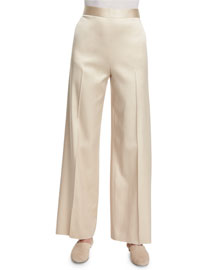 Selip High-Waist Wide-Leg Pants, Alabaster