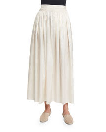 Tovo High-Waist Full Midi Skirt, Old Lace
