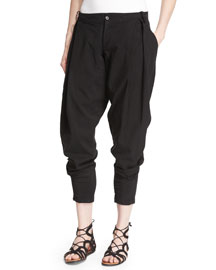 Slouchy Denim Jhodpur Pants, Black