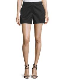 Stretch-Cotton Shorts, Black