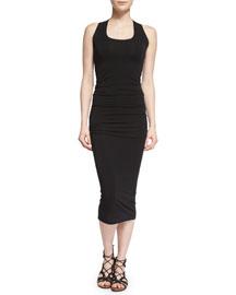 Sleeveless Scoop-Neck Sheath Dress, Black