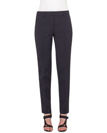 Fabiana Dot Jacquard Pants, Navy