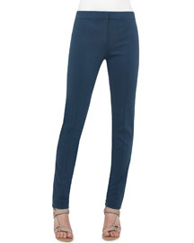 Mara Skinny Stretch-Knit Pants, Tarn