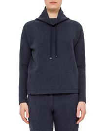 Long-Sleeve Funnel-Neck Pullover, Denim