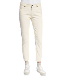 Mathias Corduroy Cropped Pants, Tapioca