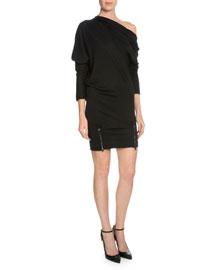 Off-The-Shoulder Sheath Dress, Black