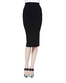 Knit Pencil Skirt, Black