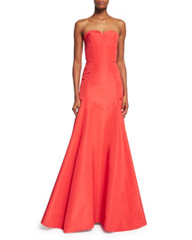 Strapless Sweetheart Mermaid Gown, Poppy