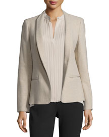 Cricket Shawl-Collar Suit Jacket, Beige