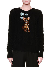 Cat & Star Cable-Knit Cashmere Sweater