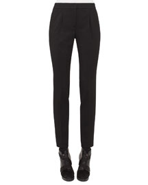 Maike Pleated-Front Tapered Pants, Black