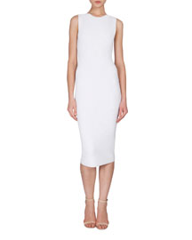 Sleeveless Crocheted Signature Sheath Dress