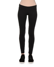 Performance Jersey Kick Flare Leggings, Black