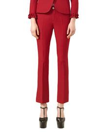 Wool-Silk Ankle Pants