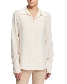 Washed Crepe de Chine Blouse
