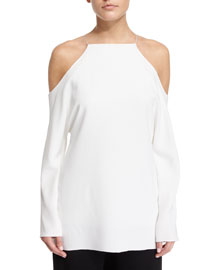 Cady Cold-Shoulder Long-Sleeve Blouse