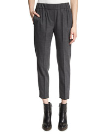 Classic Flannel Pull-On Pants, Volcano
