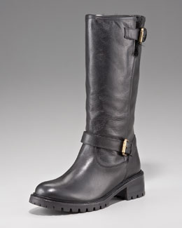 Fendi Fur-Lined Motorcycle Boot