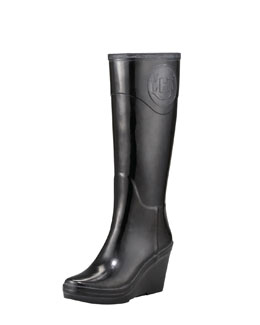 Hunter Boot Crest Wedge Rain Boot