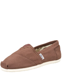 TOMS Classic Canvas Slip-On, Chocolate