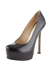 YSL Tribtoo Textured Patent Pump