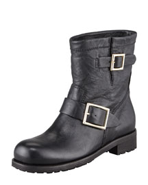Jimmy Choo Youth Buckled Biker Boot
