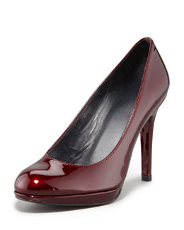 Stuart Weitzman Platswoon Patent Leather Pump, Tinto