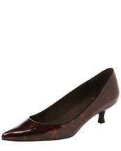 Stuart Weitzman Poco Patent Leather Kitten-Heel Pump