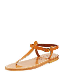 K. Jacques Picon Two-Tone Thong Slingback Sandal