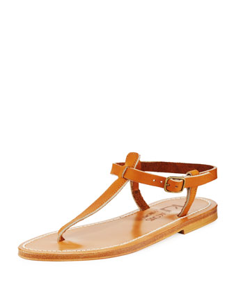 Picon Two-Tone Thong Slingback Sandal