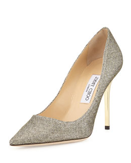 Jimmy Choo Abel Glitter Pointed Pump, Light Bronze
