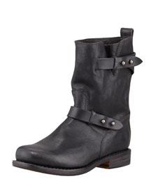 Moto Leather Boot, Black