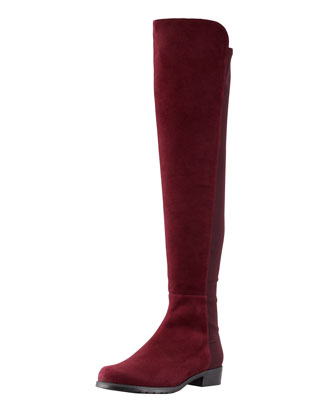 5050 Suede To-the-Knee Boot, Bordeaux