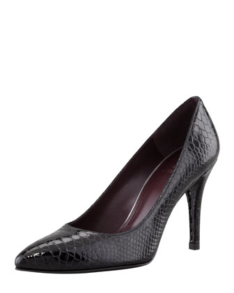 Power Pointy-Toe Pump, Black