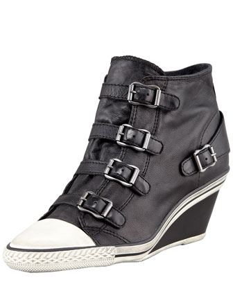 Genial Buckled Mid-Wedge Sneaker