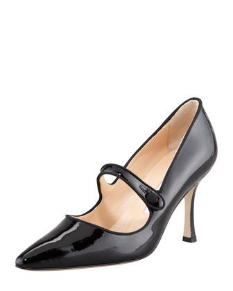 Campari Patent Leather Mary Jane, Black