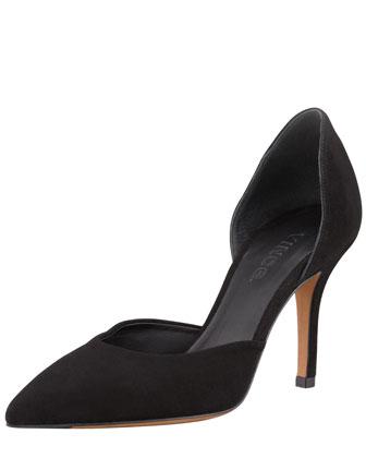 Celeste Suede d'Orsay Pump, Black