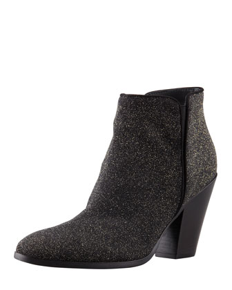 Sugar Suede Sparkly Ankle Boot
