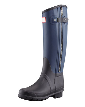 Rag & Bone Tall Two-Tone Zip Boot, Black/Navy