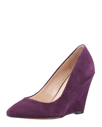 Mai Suede Wedge Pump, Plum