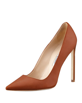 BB Leather 115mm Pump, Caramel (Made to Order)
