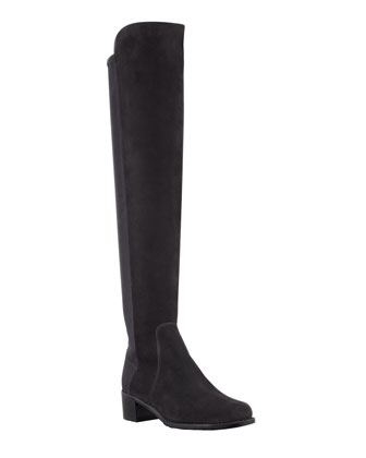 Reserve Suede Stretch-Back Knee Boot