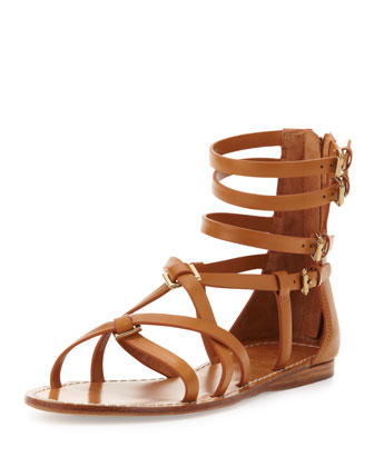 Lucas Leather Gladiator Sandal, Custom Tan