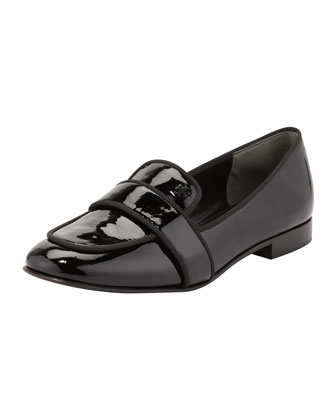 Evette Patent Loafer, Black