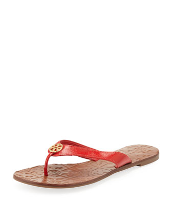 Thora 2 Patent Thong Sandal, Tory Red
